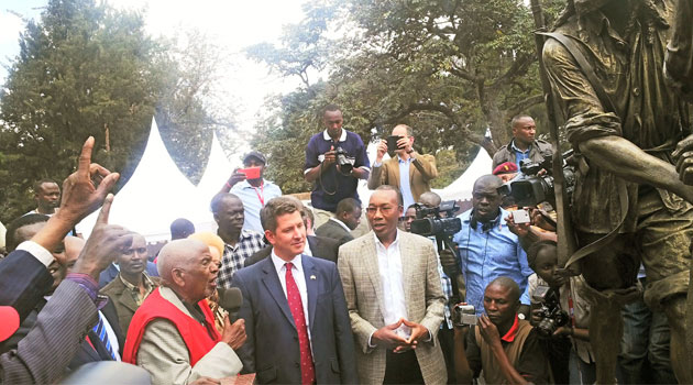 Supported by a cane as he spoke, he also refuted the popular belief that fighting for the freedom of Kenya was a reserve for the Kikuyus, saying that those forests had people of all part of the country/CFM