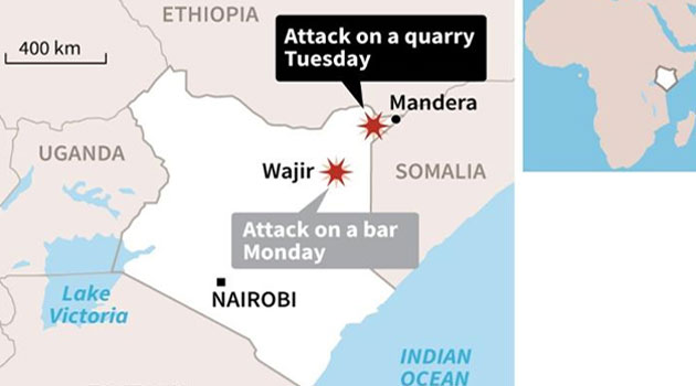 Al Shabaab militants have previously targetted Mandera killing dozens of people, mainly non locals/FILE