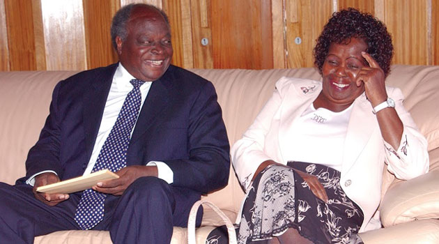 Lucy has been in out of hospital for several months now, since going out of the public limelight before former President Kibaki got out of power in 2013 at the end of his second five year term/FILE