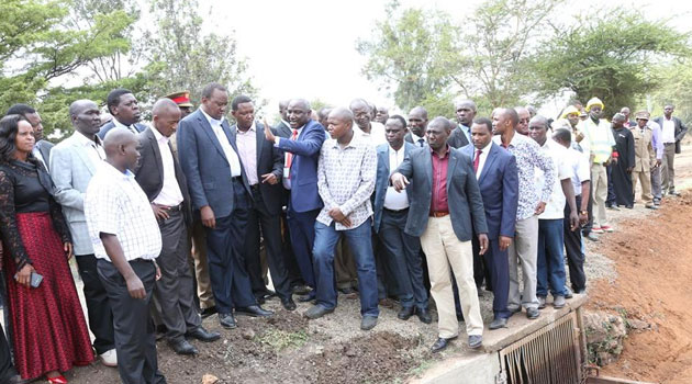 President Uhuru Kenyatta said stern action will be taken against anyone who destroys public or private property while claiming to be holding peaceful demonstrations/PSCU