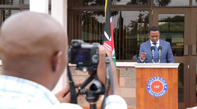 "Mutua who was responding to protests over his sacking of health service workers in Machakos County, said he would not be arm twisted into, ""going slow,"" on those who did not make good on their terms of engagement/FILE"