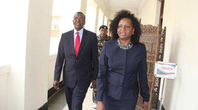 """Maraga was however """"saved"""" from answering the question by the Chairperson of the Public Service Commission Margaret Kobia who is the acting JSC Chairperson until the next Chief Justice is recruited/COURTESY"""