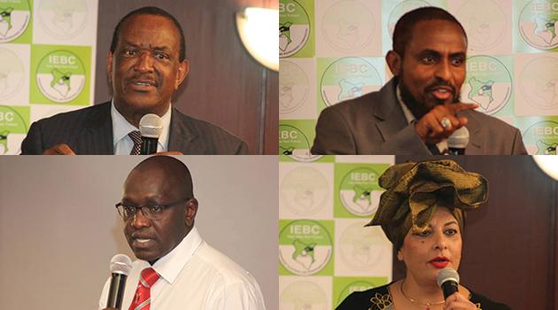 4 PRESIDENTIAL ASPIRANTS IEBC