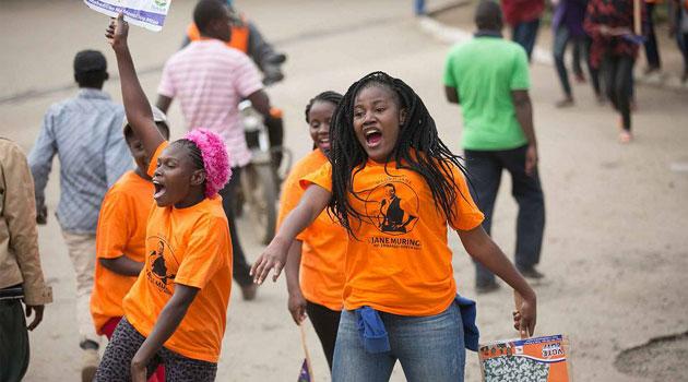 Image result for kenyan women campaigning