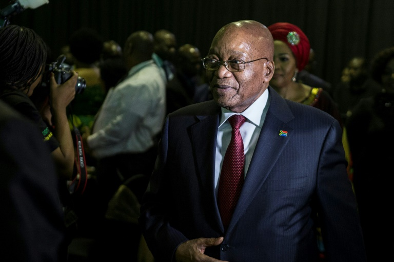 Clinging to power but for how much longer? Analysts say South Africa's Jacob Zuma could be ousted over the weekend  AFP-File