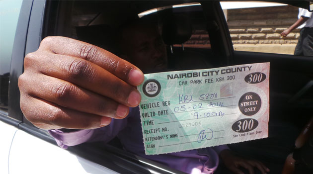 PARKING TICKETS - Nairobi County to have own internal revenue collection system starting Monday