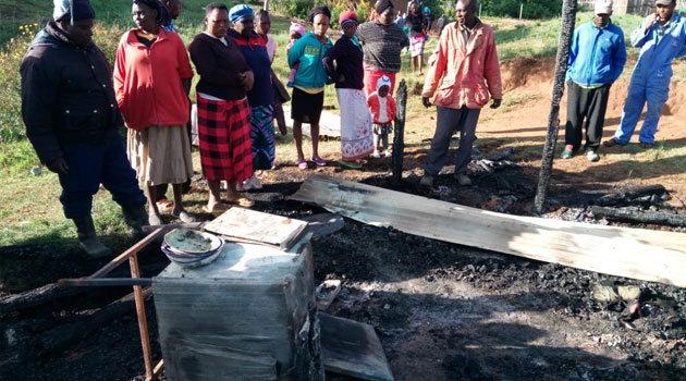 NYERI ARSON JULY - 37-year-old man burnt beyond recognition in suspected arson in Nyeri