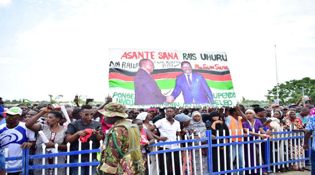 """Nobody can stop reggae"",-Raila declares in Mombasa BBI rally"