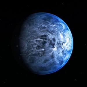Azurblauer Planet
