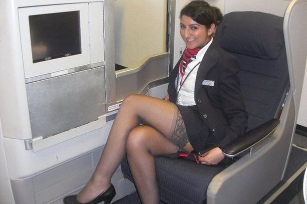 Sexy nude air stewardesses
