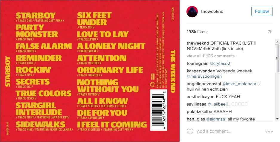 the-weeknd-tracklist