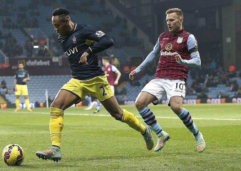 Nathaniel Clyne (l) in action against Aston Villa. PHOTO/File
