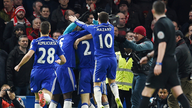 Chelsea Players celebrating.PHOTO/FILE