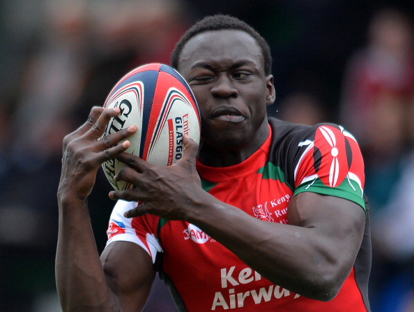 Shujaa's Billy Odhiambo in action at last season's Glasgow Sevens. PHOTO/File