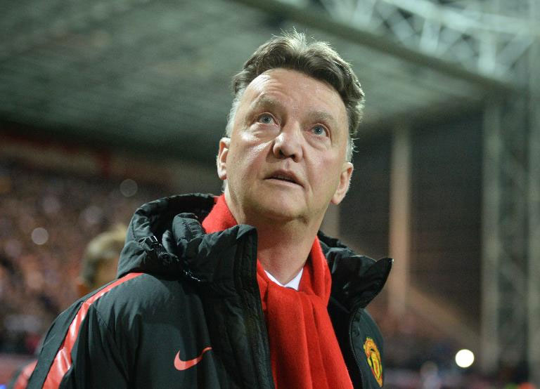Manchester United manager, Louis van Gaal. PHOTO/AFP