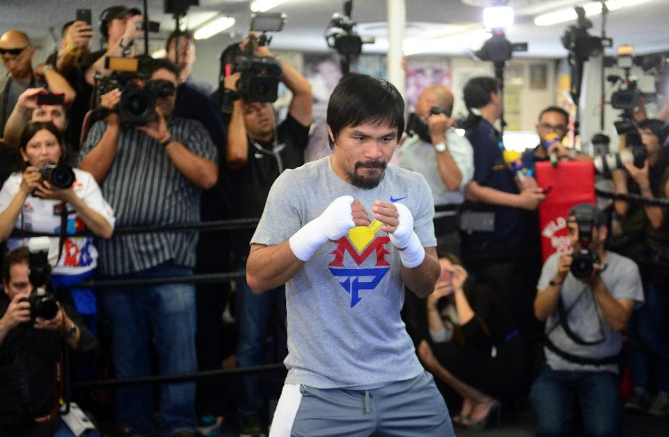 Manny Pacquiao train