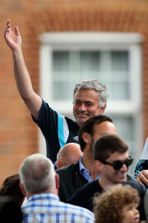 Chelsea boss, Jose Mourinho during the EPL and League Cup trophy parade.