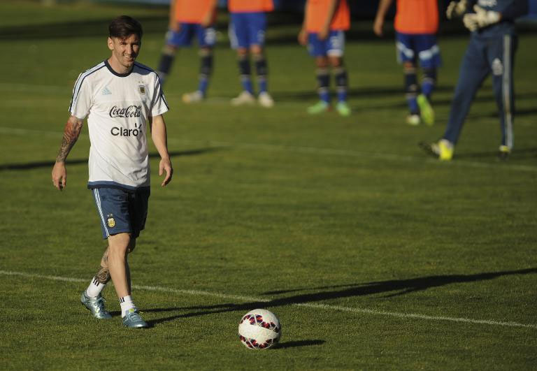 Argentina's Leonel Messi, seen during a training session in La Serena, Chile, on June 9, 2015, ahead of the Copa America tournament