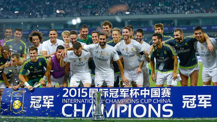 Real Madrid were crowned International Champions Cup champions for Asia after beating AC Milan 10-9 on penalties. PHOTO/ESPN