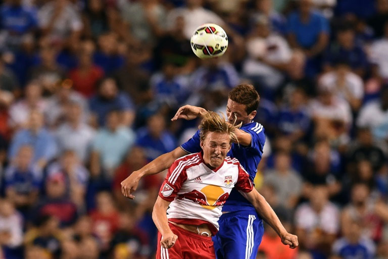 The Red Bulls scored four times in the second half against mighty Chelsea FC despite using a roster made up of mostly of young developmental players. PHOTO/AFP