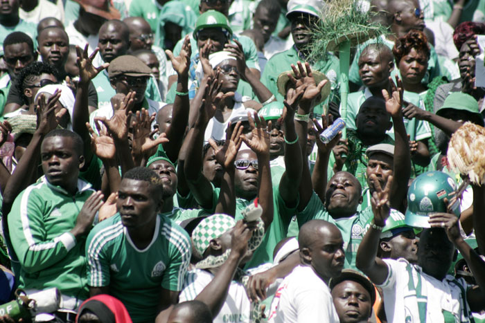 Gor Mahia fans in full song at last week's aborted Mashemeji Derby. Their team won 2-1 at Bandari on August 29, 2015 to inch closer to a third successive title. PHOTO/Raymond Makhaya