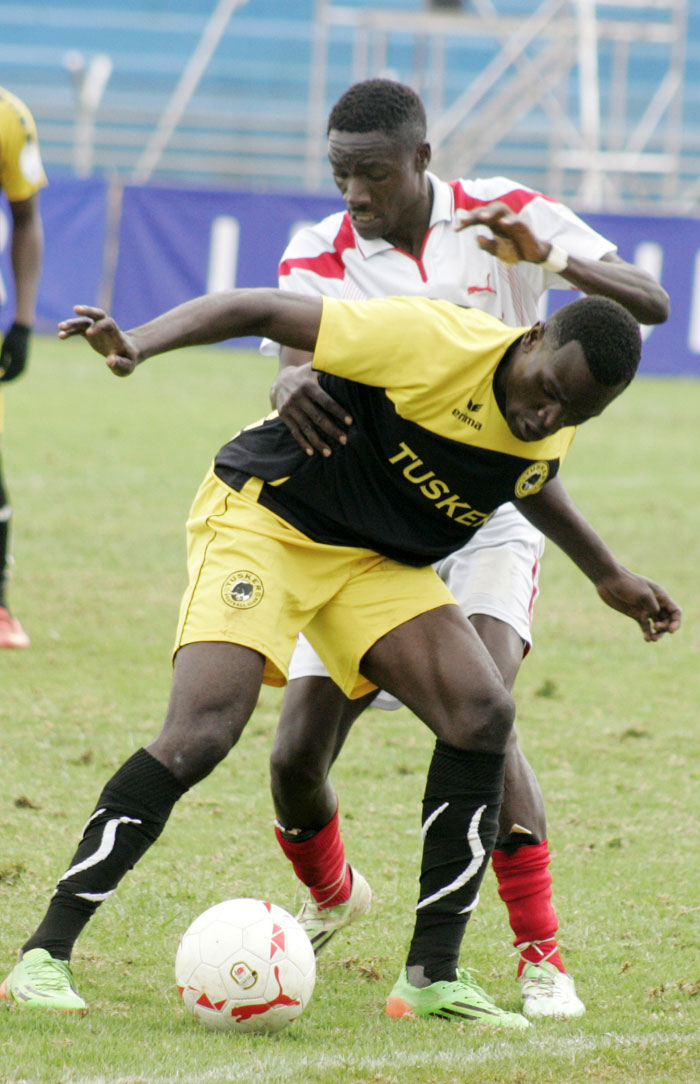 Tusker FC's Noah Wafula in action at a previous SPL clash. PHOTO/Raymond Makhaya