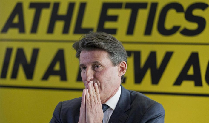 IAAF President Sebastian Coe, at a press conference. PHOTO/File