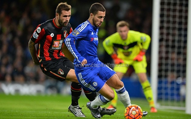 Chelsea's Eden Hazard is expected to return against Bournemouth from a long term injuury lay off/ PHOTO- Telegraph