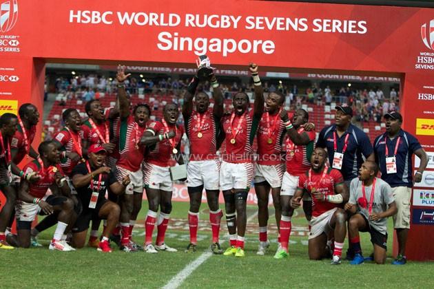 HSBC Singapore Sevens champions, Kenya Final Cup, Fiji 7 v 30 Kenya, Singapore Sevens 2016, HSBC World Rugby Sevens Series - Photo Martin Seras Lima