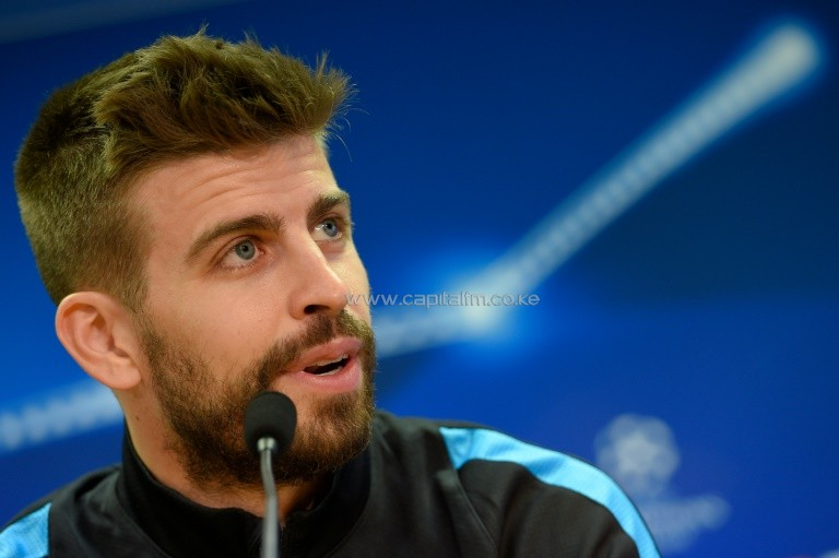 """We will try to decide the tie in the first leg, especially after what happened on Saturday,"" Gerard Pique said ahead of Tuesday's Champions League quarter-final, first leg at home to Atletico Madrid. PHOTO/AFP."