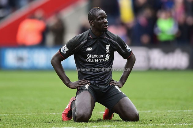 Liverpool defender Mamadou Skaho reacts in a past match/ PHOTO- Agencies