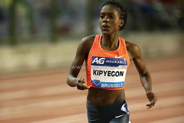 Faith Kipyegon at the 2015 IAAF Diamond League final in Brussels (Giancarlo Colombo) © Copyright
