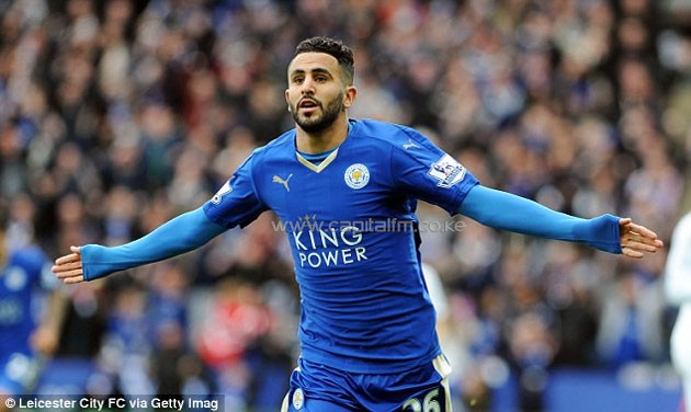 Riyad Mahrez's goals and assists this season have led to 30 points and he was named PFA Player of the Year.