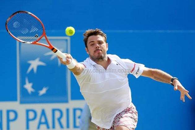 Stanislas Warinka in action-PHOTO/REUTERS