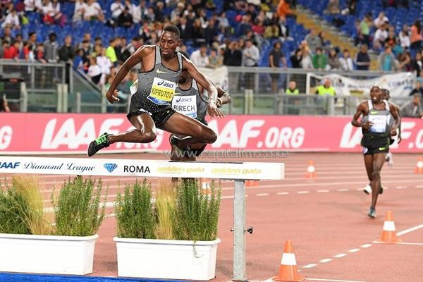 Conseslus Kipruto at the 2016 IAAF Diamond League meeting in Rome (Gladys Chai)Conseslus Kipruto at the 2016 IAAF Diamond League meeting in Rome (Gladys Chai)