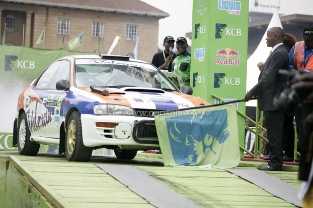 Car no 85 McRae Kimanthi flag of by his Father KMSF chairman Phineas Kimanthi.PHOTO/Raymond Makhaya.