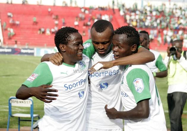 Gor Mahia Jacques Tuyisenge-Eric Ouma and Amos Nondi.PHOTO/Raymond Makhaya.