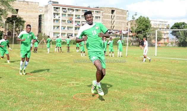 IF Djugardens striker Michael Olunga during Harambee Stars training.PHOTO/Timothy Olobulu.