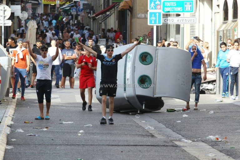 English and Russian fans fought pitch battles in the streets of Marseille. PHOTO/AFP.
