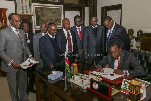 President Uhuru Kenyatta on Thursday signed the 2016 Anti-Doping Bill into law.PHOTO/PSCU