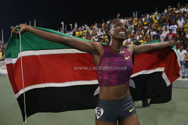 """Championships are nobody's game because there are no pace makers, Vivian (Cheruiyot) is a strong woman and so is Mercy (Cherono). We are going to do our best in Rio. We have only three weeks to prepare and I am not going to fear anybody. I am going to run my race and hope Kenya will win,"" she stated. PHOTO/IAAF"
