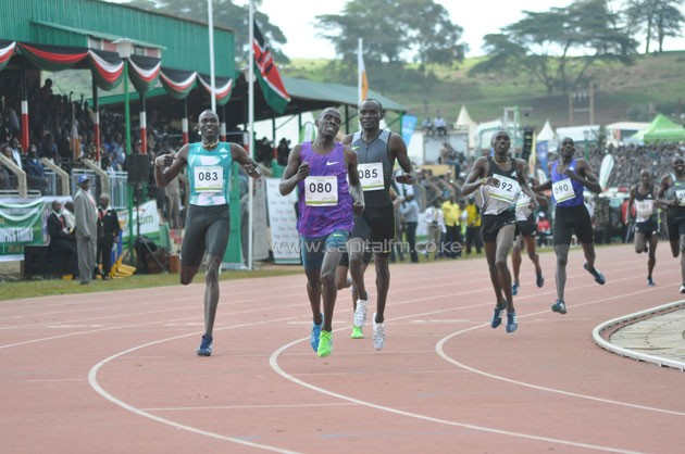 World record holder David Rudisha was beaten after finishing third at the Rio Olympics Trials in a race won by former world junior champion Alfred Kipketer while Ferguson Rotich finished third.PHOTO/courtesy.