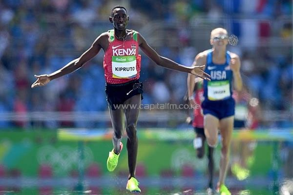 Conseslus Kipruto during the men's 3000m steeplechase final at the 2016 Rio Olympic Games (Getty) © Copyright