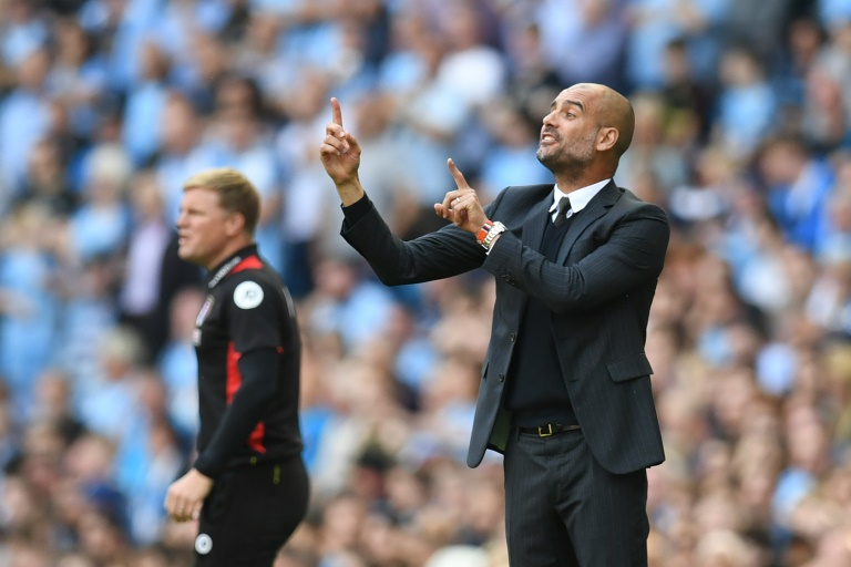 Pep Guardiola's Manchester City are top of the Premier League with five wins out of five