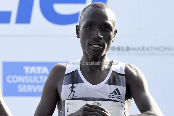 Emmanuel Mutai after finishing the Berlin Marathon (AFP / Getty Images) © Copyright.