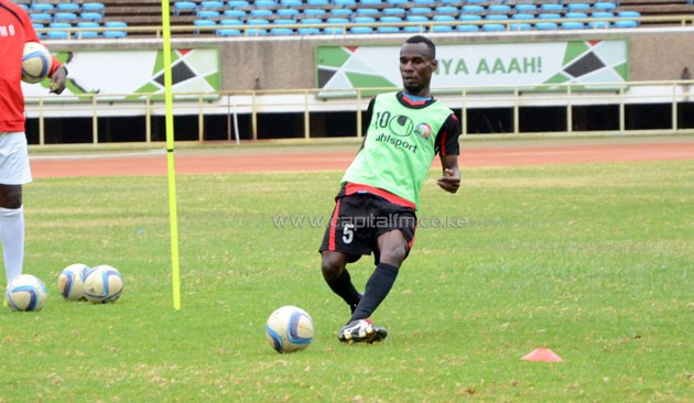 """It is the desire of any player to play for the national team. The coach has shown faith in me and I look forward to another positive adventure with the boys,"" Salim told Capital Sport after the team's early morning training session at the Moi Sports Centre Kasarani.PHOTO/Timothy Olobulu"