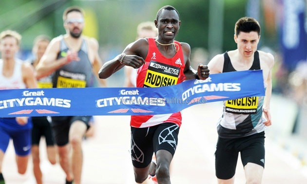 David Rudisha runs world 500m best at Great North CityGames.PHOTO/courtesy.