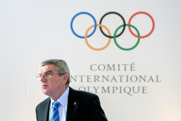 IOC president Thomas Bach at a summit on reforming the anti-doping system on October 8, 2016 in Lausanne