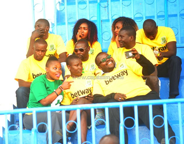Mathare United fans at the Nyayo National Stadium.PHOTO/Raymond Makhaya.