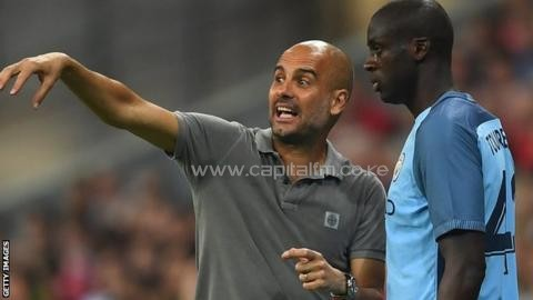 Manchester City manager Pep Guardiola is still waiting on an apology from Yaya Toure's agent before the Ivorian can get back on the field. PHOTO/GETTYIMAGES